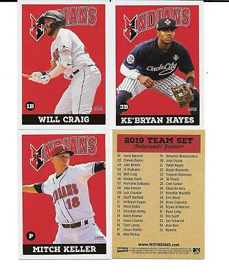 2019 INDIANAPOLIS INDIANS Complete & Sealed Team Set - Pittsburgh Pirates