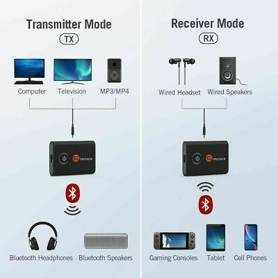 TaoTronics BA07 Bluetooth 5.0 Transmitter and Receiver, 2-in-1 Wireless 3.5mm