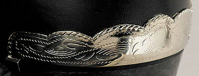 New! Western Cowboy Boot Heel Guards - Silver Scalloped