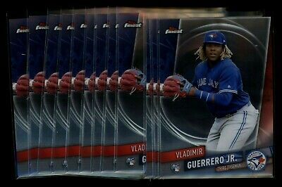 (12) 2019 FInest #101 Vladimir Guerrero Jr. RC Rookie Card LOT BLUE JAYS