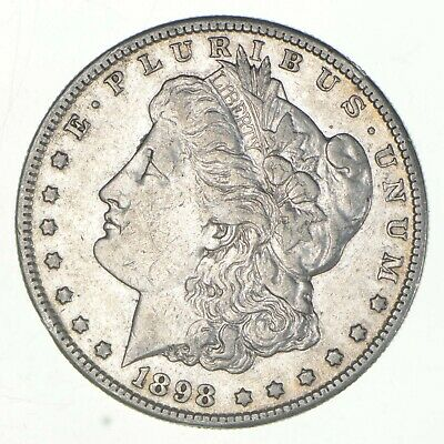 Early 1898-S Morgan Silver Dollar - 90% US Coin *937