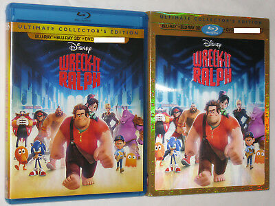 WRECK-IT RALPH 3D Blu-ray Ultimate Collector's Edition 4-Disc Set w/ Slipcover