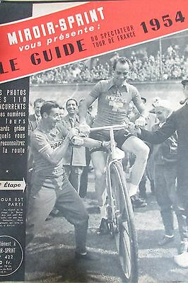 Cycling Special Tour of France of 1954 Guide Teams Runners Map 1ére Step