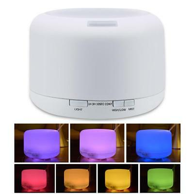 LED 500ml Aroma Essential Oil Diffuser Ultrasonic Air Humidifier Remote Control