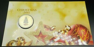 2011 Australia Christmas $1 Unc Coin on card Perth Mint