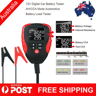 12V Car Battery Tester w/ AH/CCA Mode Automotive Battery Load Tester Analyzer AU