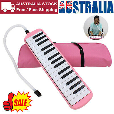 32 Keys High Quality Melodica for Music Lovers Beginners Gift with Bag Pink