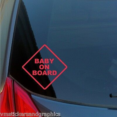 Baby on Board Caution Warning Sign vinyl sticker Customize with your lettering