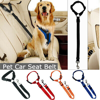 Adjustable Dog Pet Car Safety Seat Belt Harness Travel Lead Restraint Strap UK