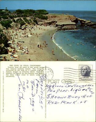 1964 La Jolla,CA The Cove San Diego County California Chrome Postcard 5C stamp