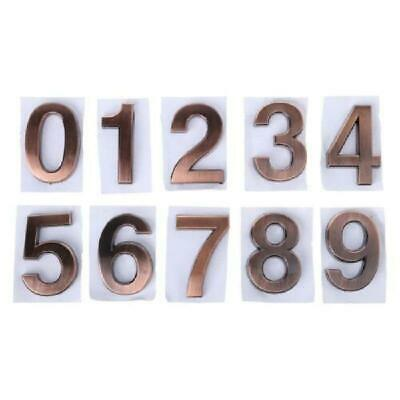 ABS Plastic Self-Adhesive 0-9 Door Numbers Customized House Address Bronze Sign