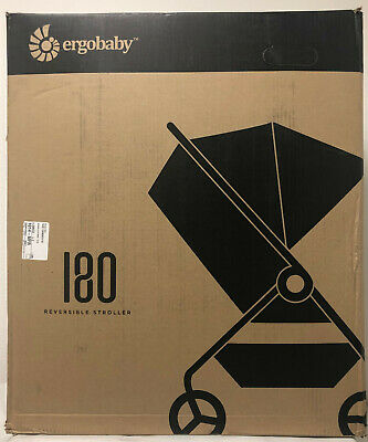 Ergobaby 180 Reversible Compact One Hand Fold Single Stroller Black NEW