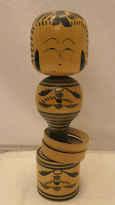 Vintage Kokeshi Japanese Doll Wooden Doll Traditional Style RATTLE RINGS #568
