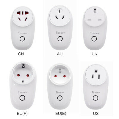 Sonoff S26 TFTTT WIFI Smart Socket Wireless Remote Timer UK/EU/AU/CN Plug UK