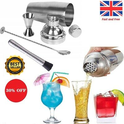 24Ounce Stainless Steel Cocktail Shaker Mixer Bar Tool Set Martini Maker Pro Kit