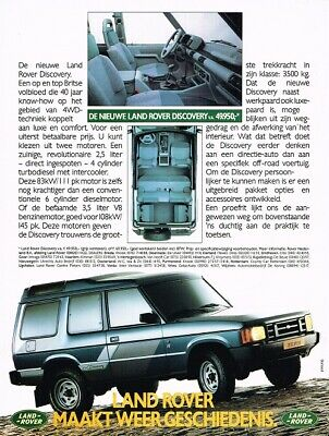 1990 Land Rover Discovery (NL, 1pg.) Advertisement 3520