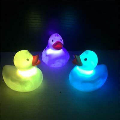 LED Flashing Light Rubber Floating Duck With Bath Tub Shower Toy For Children