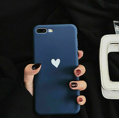 For iPhone XS MAX XR 7 8 Plus Ultra Slim Matte Cute Heart Parttern Case Cover US