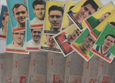 A&BC Topstars Famous Footballers 1958/59 WITHOUT planet offer Series 1 & 2
