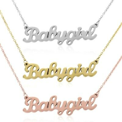 OLD ENGLISH FONT Gold / Silver Word Necklace l FREE UK