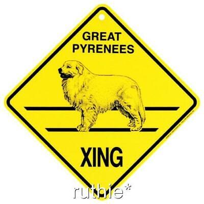 Great Pyrenees Dog Crossing Xing Sign New