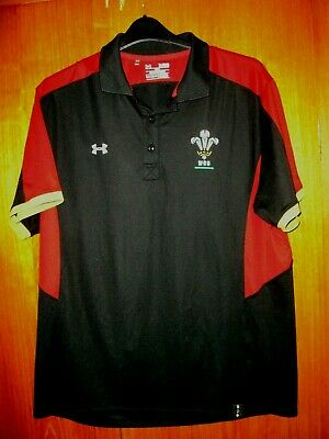 Wales Rugby Union Football Jersey Shirt Under Armour Polo Training Shirt size XL