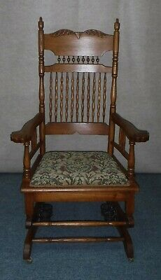 Antique Platform Rocker Oak Early