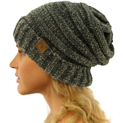 CC Winter Trendy Warm Oversized Baggy Stretchy Slouchy Beanie Hat Chenille Dk Me