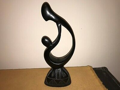 Abstract Wooden Figure Carving Of 2 Figures