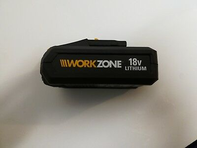 Workzone 18volt 1.5 Ah Lithium Battery. See pics         g4t5