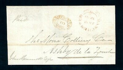 'Missent to Birmingham'  1840 Pre-stamp Cover from Manchester     (Jy782)