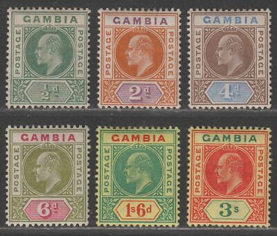 Gambia 1902 King Edward VII Part Set to 3sh Mint cat £70