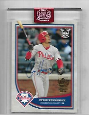 2019 Topps Archives 2018 Cesar Hernandez Topps Big League Buyback Auto 1/1