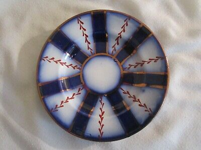 Antique Gaudy Welsh Wagon Wheel Pattern Small Saucer Plate # 77