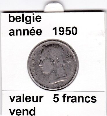 FB )pieces de baudouin  5 francs 1950  belgie