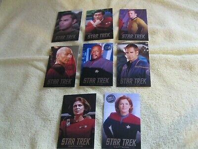 Dave and Busters Star Trek 6 Complete Sets TOS TNG TAS Captains Villains Aliens