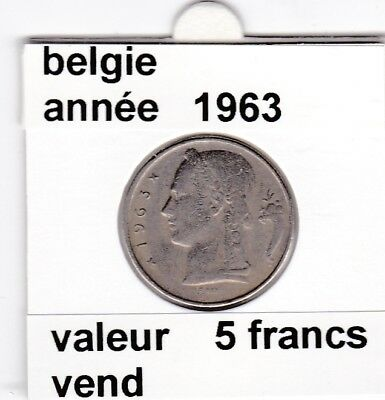 FB )pieces de baudouin  5 francs 1963  belgie