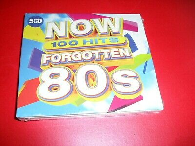 NOW 100 HITS FORGOTTEN 80's 5 CD SET NEW SEALED