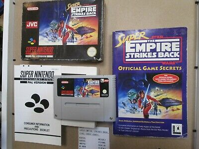 NINTENDO SUPER STAR WARS THE EMPIRE STRIKES BACK PAL VERSION and SECRETS BOOK