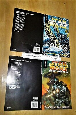 star wars boxtree collectable proof / promo book covers BOBA FETT / CHEWBACCA