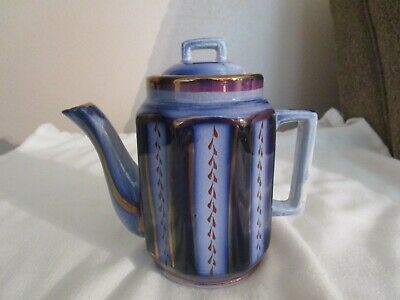 """Antique Gaudy Welsh Wagon Wheel Pattern Small Child 5"""" Teapot # 70"""