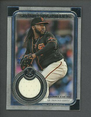 2019 Topps Museum Collection Meaningful Johnny Cueto Jersey 41/50 Giants