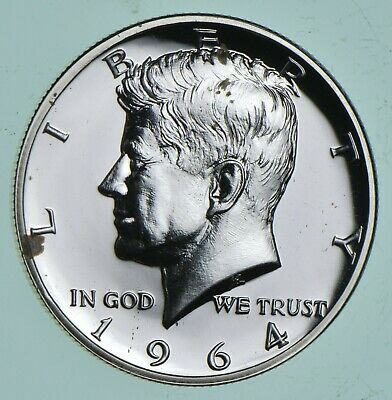 1964 Kennedy Silver Half Dollar Proof - Accented Hair *340