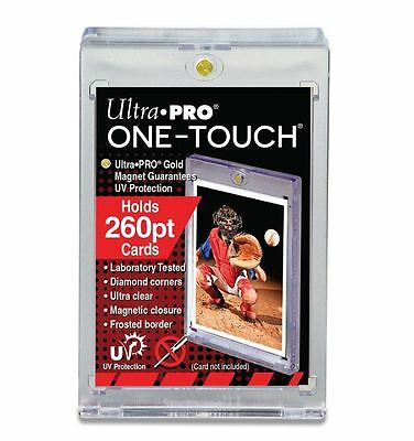 2 ULTRA PRO One Touch Magnetic Thick Holders 260pt UV Gold Magnet