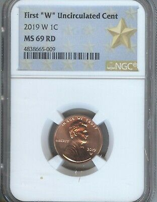 2019-W LINCOLN CENT - NGC  MS69 RED - LOW POP  From MINT SET - FEW GRADED HIGHER