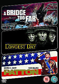The Longest Day/A Bridge Too Far/Patton [DVD], New, DVD, FREE & Fast Delivery