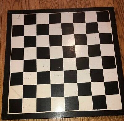 Primitive Antique Hand Made Painted Game Board Checkerboard 2 Sided