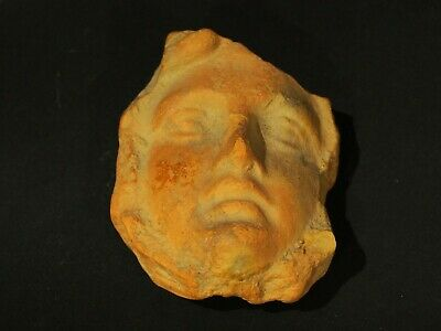 Roman-Egyptian Terracotta Votive Face (350BC-50BC). Ancient Artifact Antiquities