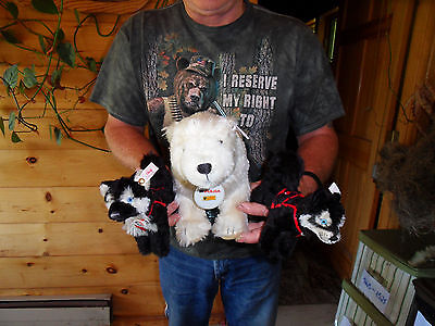 Steiff dog husky polar bear set limited ed. Ids  stuffed animal Germany  2285