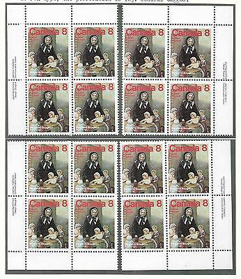 pk44922:Stamps-Canada #660 Marguerite Bourgeoys 8 cent Set of Plate Blocks-MNH